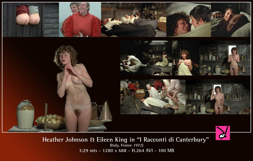 "Heather Johnson and Eileen King in ""I Racconti di Canterbury"""