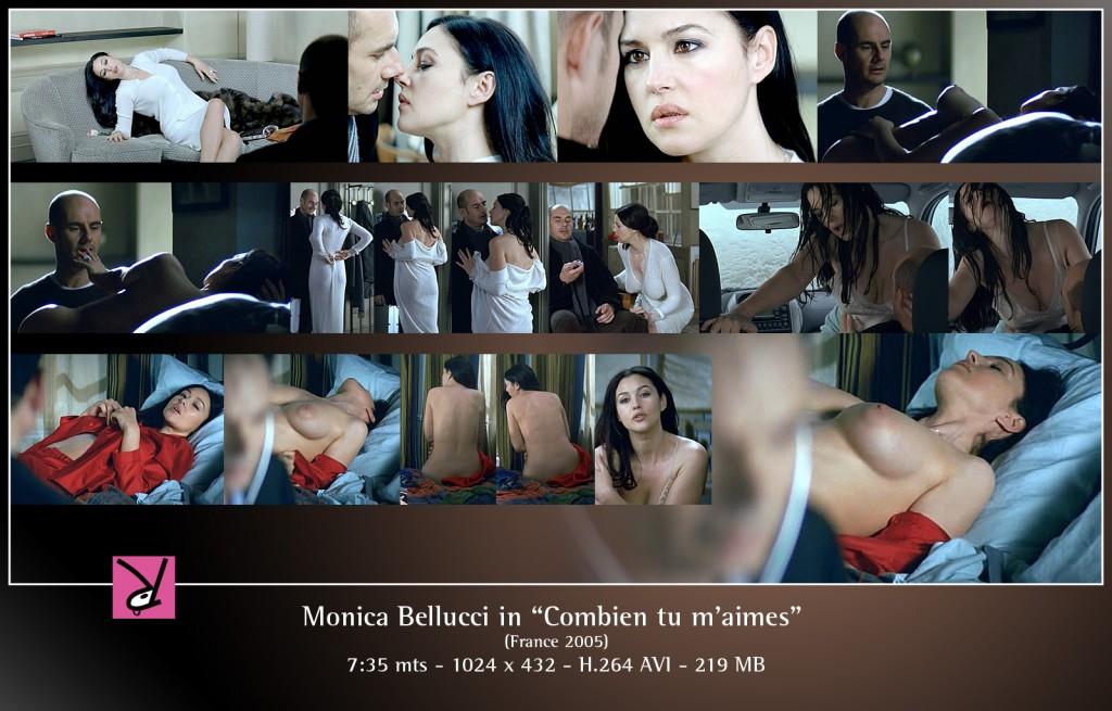 Monica Bellucci nude in Combien tu m'aimes