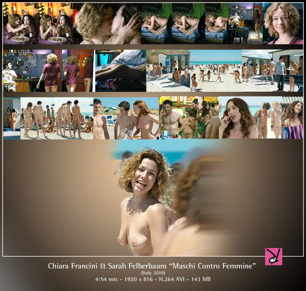 Chiara Francini and Sarah Felberbaum in Maschi Contro Femmine