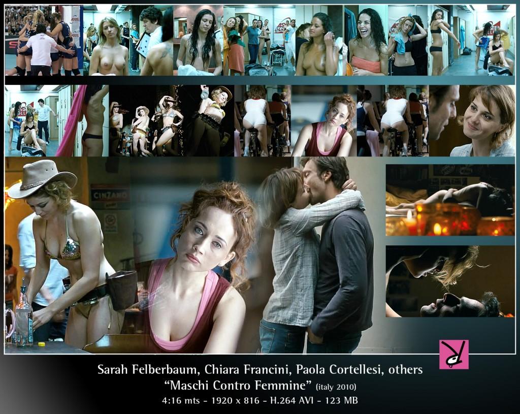 Sarah Felberbaum, Chiara Francini and Paola Cortellesi in Maschi Contro Femmine