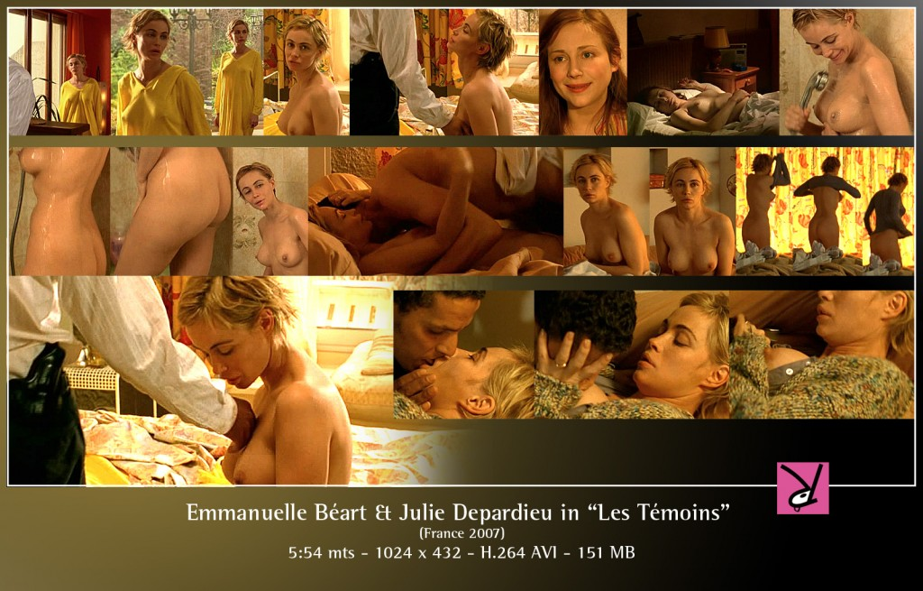 Emmanuelle Béart and Julie Depardieu in Les Témoins