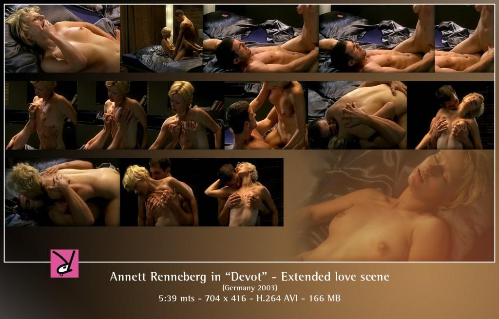 Annett Renneberg, extended love scene in Devot