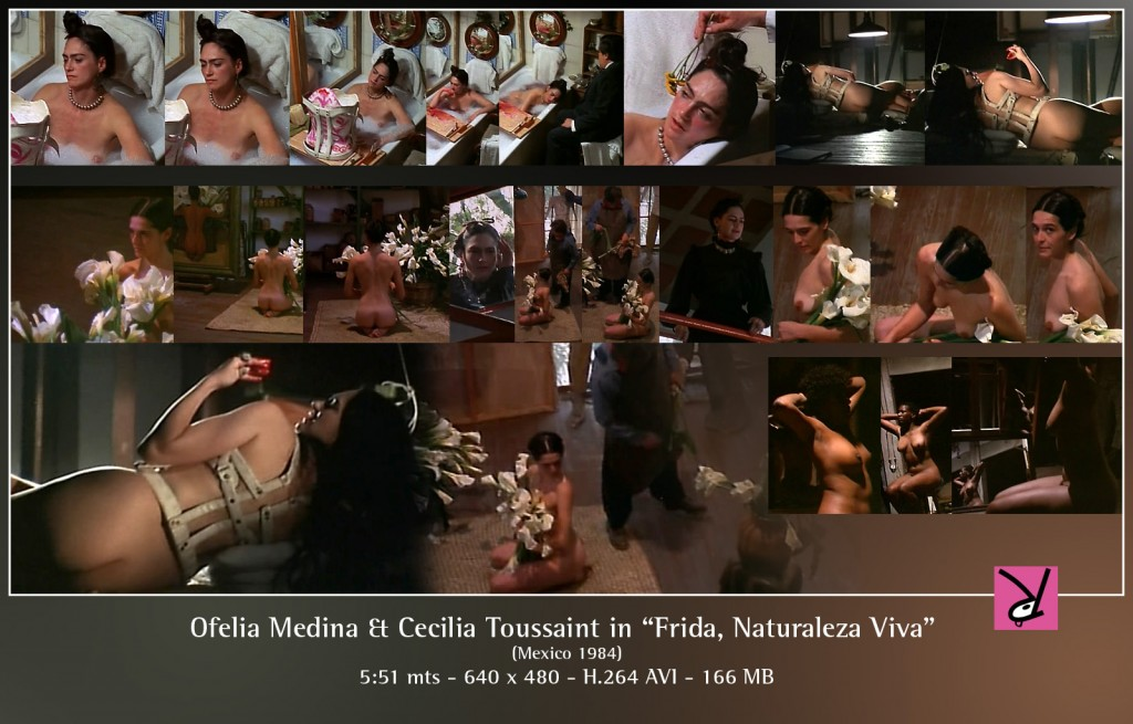 "Ofelia Medina and Cecilia Toussaint from the film, ""Frida, Naturaleza Viva"""