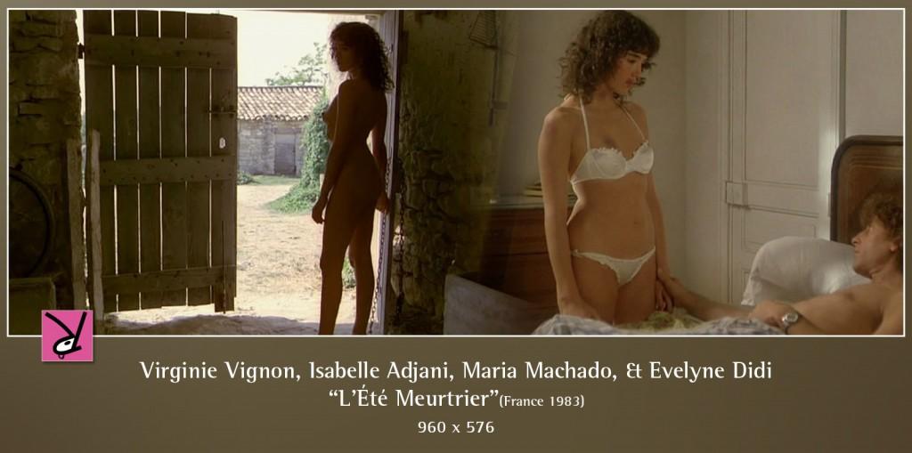 Virginie Vignon, Isabelle Adjani, Maria Machado, and Evelyne Didi in L'Été Meurtrier
