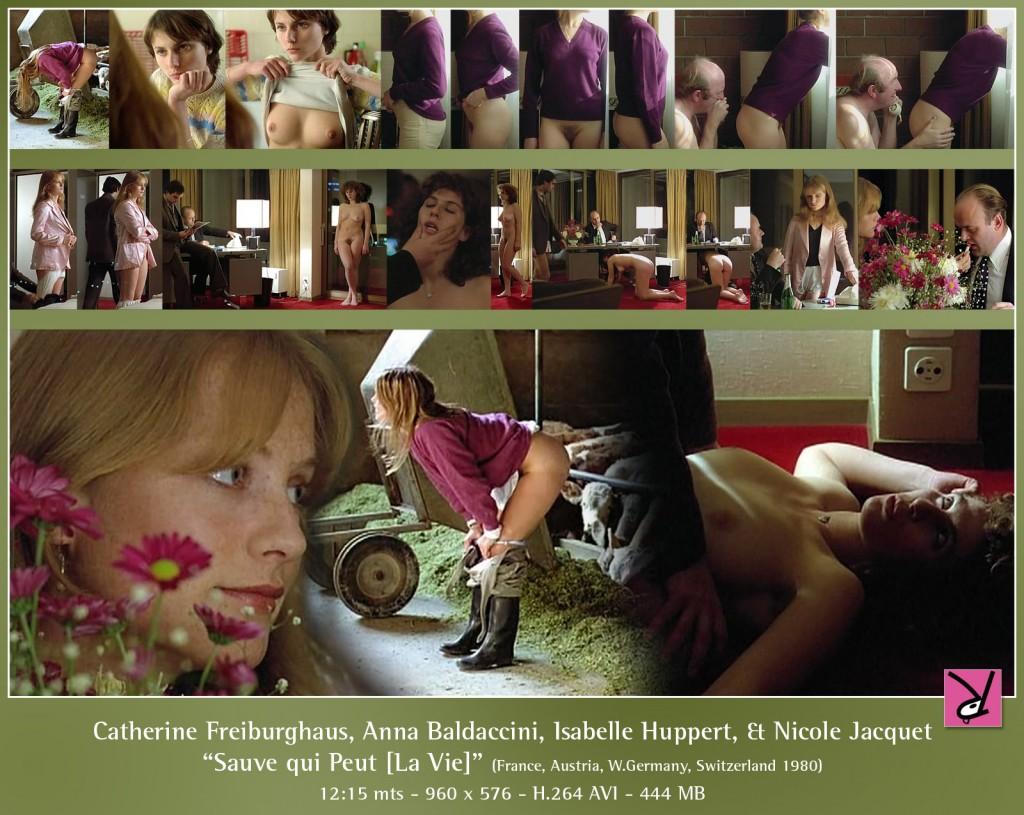 Catherine Freiburghaus, Anna Baldaccini, Isabelle Huppert, and Nicole Jacquet in Suave qui Peut la vie