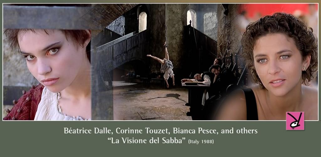 Béatrice Dalle, Corinne Touzet, Helena Coste, and Bianca Pesce in La Visione del Sabba