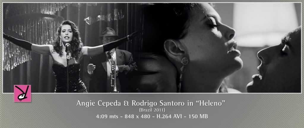 Angie Cepeda and Rodrigo Santoro in Heleno