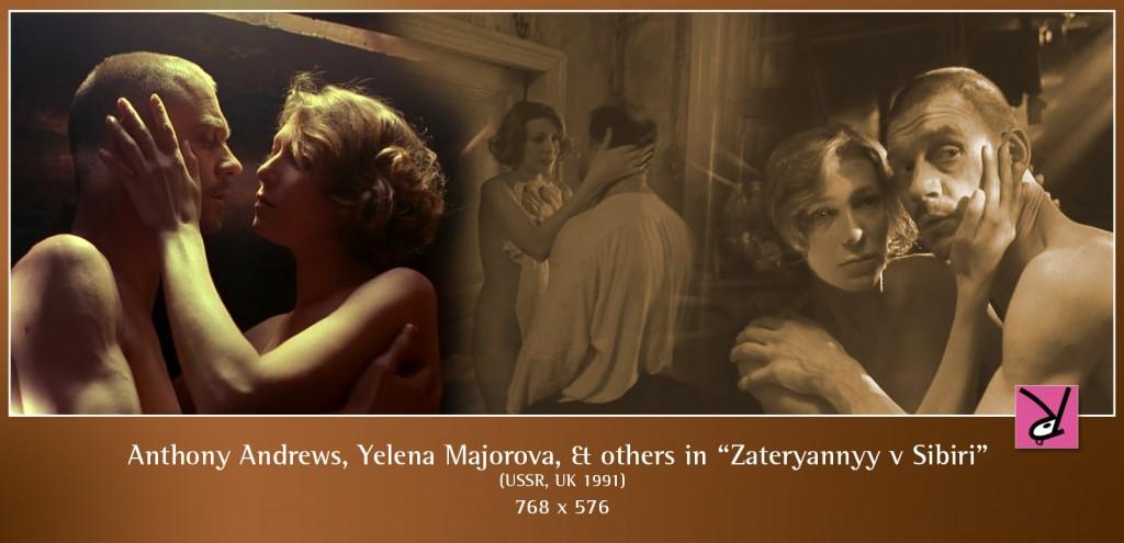 Anthony Andrews, Ira Mikhalyova, and Yelena Majorova in Zateryannyy v Sibiri