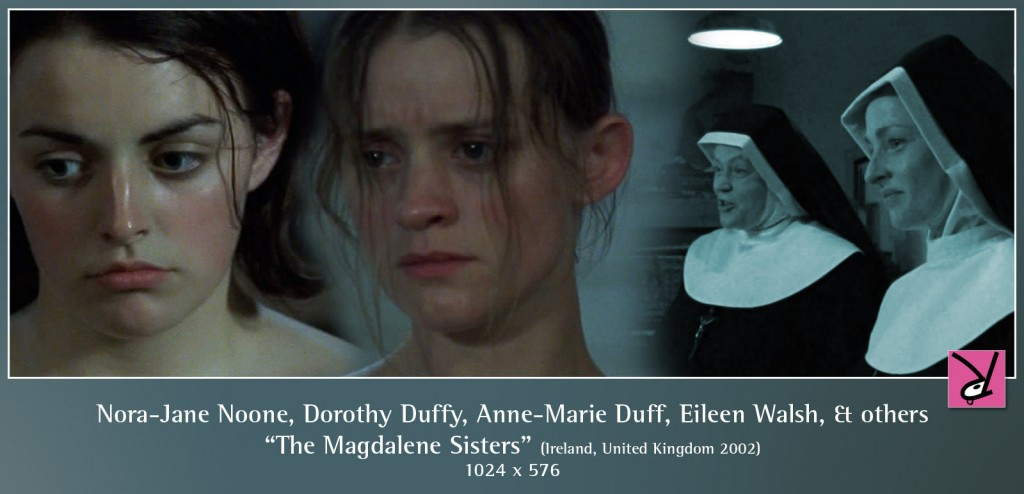 Nora-Jane Noone, Dorothy Duffy, Anne-Marie Duff, Eileen Walsh, and others in The Magdalene Sisters