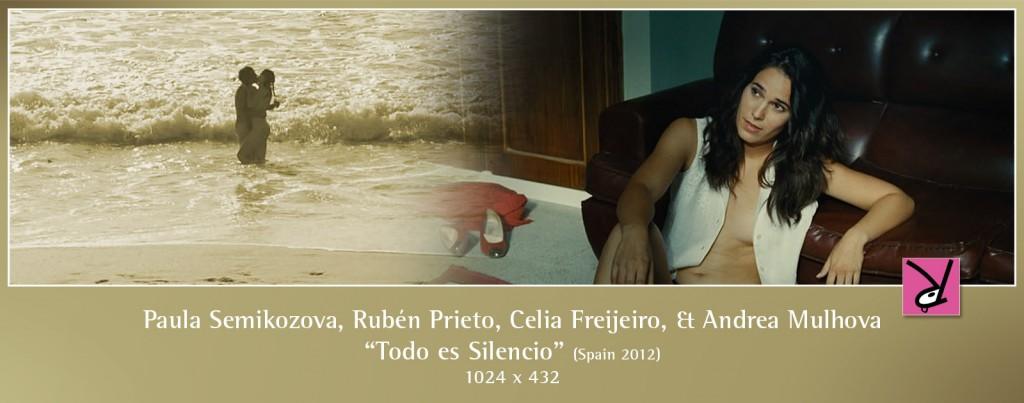 Paula Semikozova, Rubén Prieto, Celia Freijeiro, and Andrea Mulhova in Todo es silencio