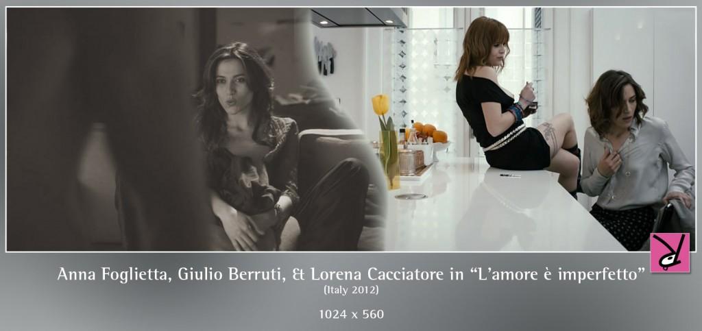 Anna Foglietta, Giulio Berruti, and Lorena Cacciatore in L'amore è imperfetto