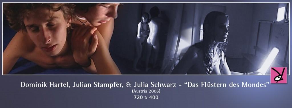 Dominik Hartl, Julian Stampfer, and Julia Schwarz in Das Flüstern des Mondes