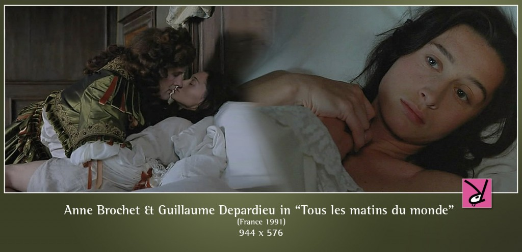 Anne Brochet and Guillaume Depardieu nude in Tous les matins du monde
