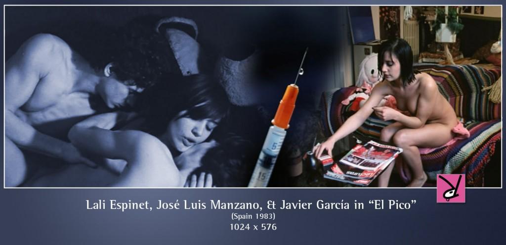 Lali Espinet, Jose Luis Manzano, and Javier Garcia in El Pico (1983)