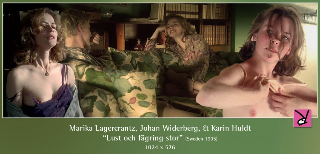 Marika Lagercrantz, Johan Widerberg, and Karin Huldt nude in Lust och fägring stor
