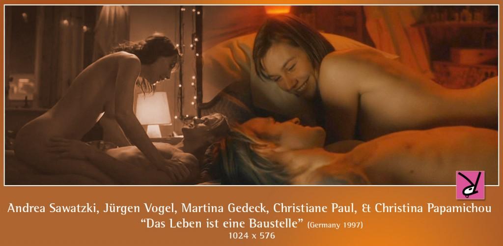 Andrea Sawatzki, Jürgen Vogel, Christiane Paul, and Christina Papamichou nude in Das Leben ist eine Baustelle.