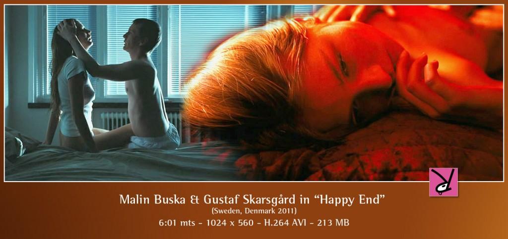 Malin Buska and Gustaf Skarsgård nude in Happy End