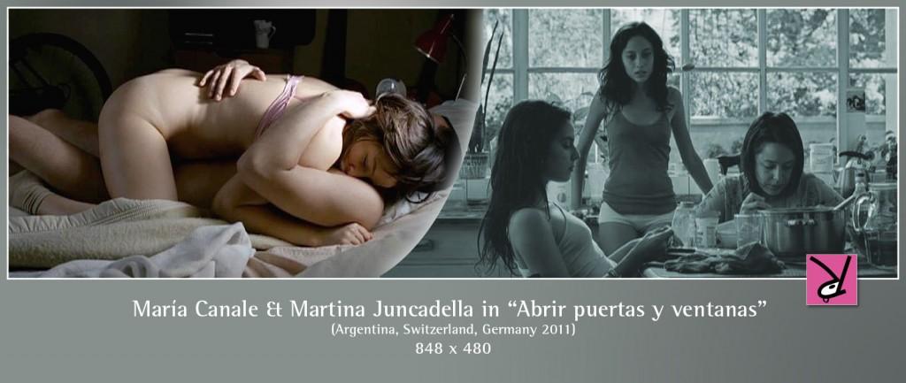 María Canale and Martina Juncadella nude in Abrir puertas y ventanas