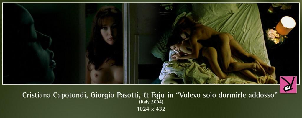 Cristiana Capotondi, Giorgio Pasotti, and Faju nude in Volevo solo dormirle addosso