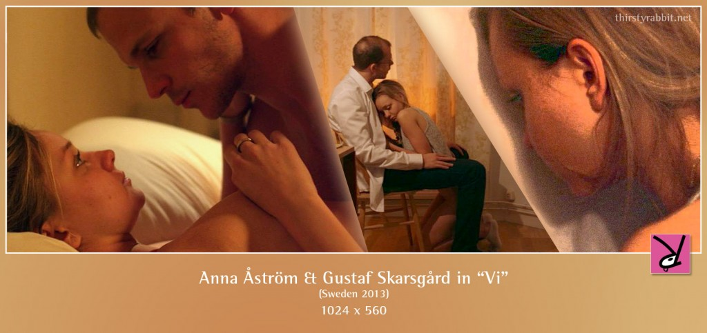 Anna Åström and Gustaf Skarsgård nude and having sex in the Swedish film Vi.