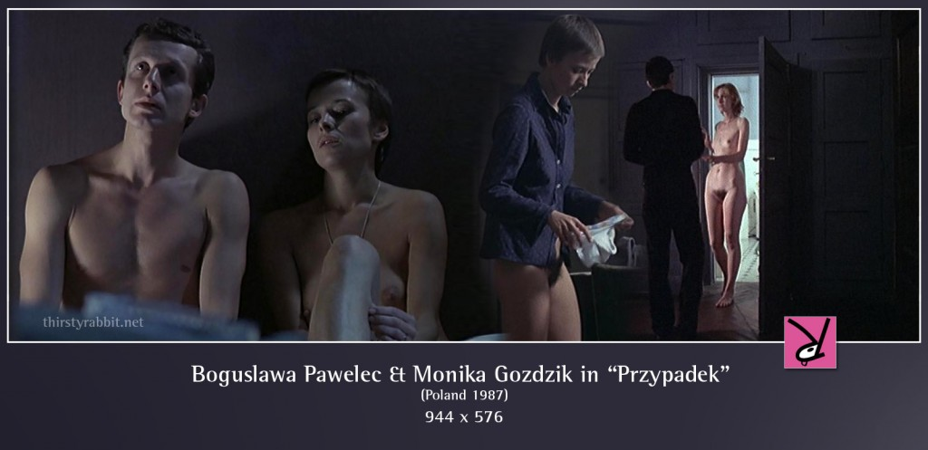 Boguslawa Pawelec and Monika Gozdzik nude in Przypadek aka Blind Chance