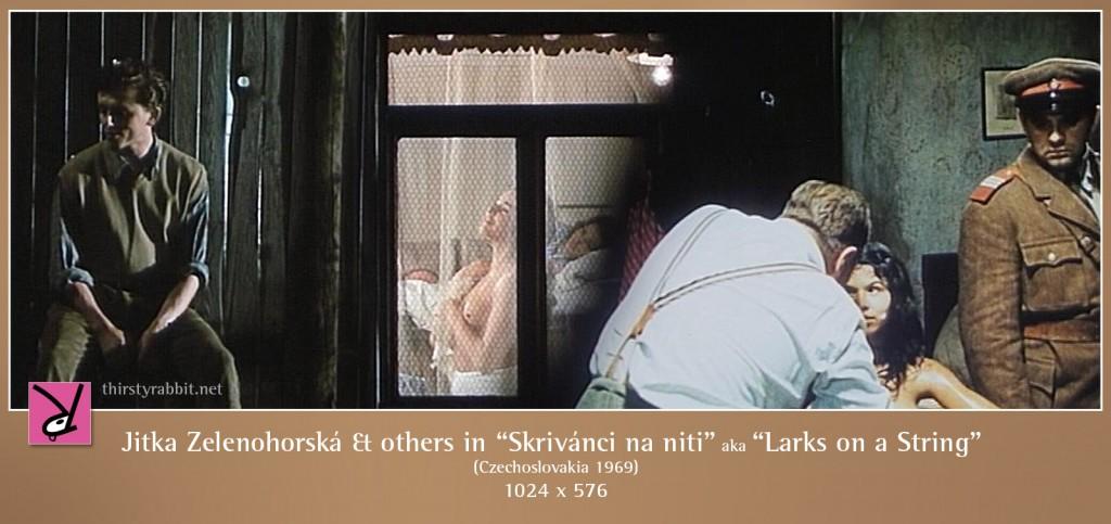 Jitka Zelenohorská and others nude in Skrivánci na niti aka Larks on a String