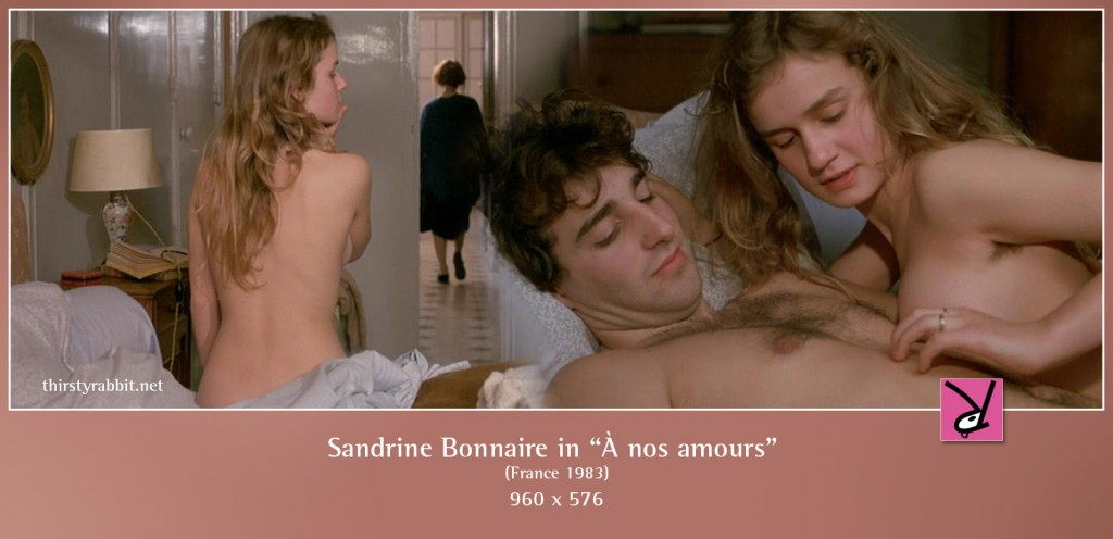 Sandrine Bonnaire and Pierre-Loup Rajot nude in À nos amours aka To Our Romance