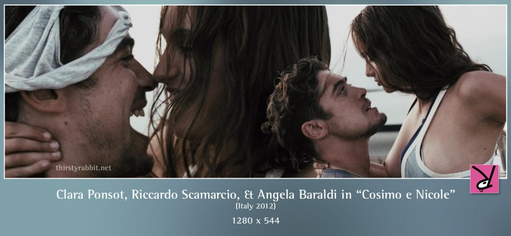 Clara Ponsot, Riccardo Scamarcio, and Angela Baraldi nude in Cosimo e Nicole