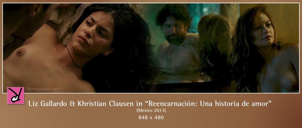 Liz Gallardo and Khristian Clausen nude in Reencarnación: una historia de amor