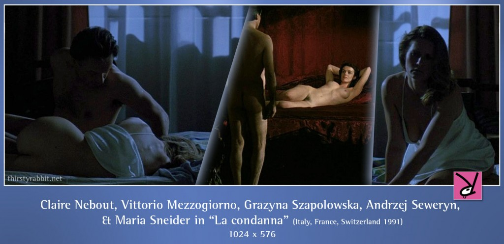Claire Nebout, Vittorio Mezzogiorno, Grazyna Szapolowska, Andrzej Seweryn, and Maria Sneider nude in La condanna aka The Conviction