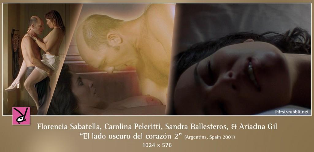Florencia Sabatella, Carolina Peleritti, Sandra Ballesteros, and Ariadna Gil nude in El lado oscuro del corazón 2