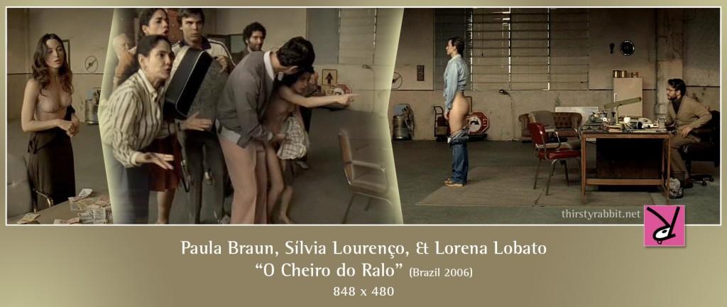 Paula Braun, Sílvia Lourenço, and Lorena Lobato nude in O Cheiro do Ralo aka Drained