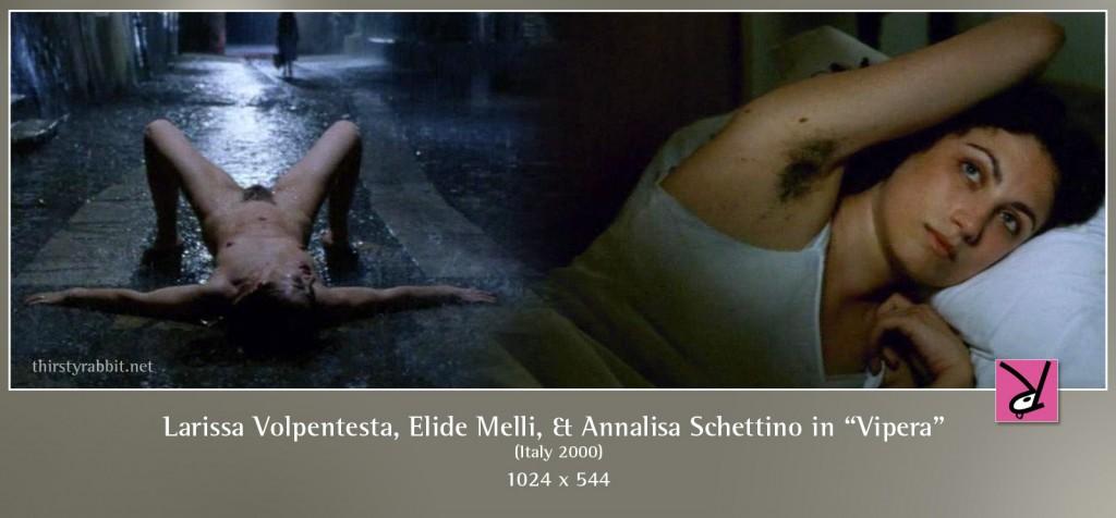 Larissa Volpentesta and Elide Melli nude in Sergio Citti's Vipera