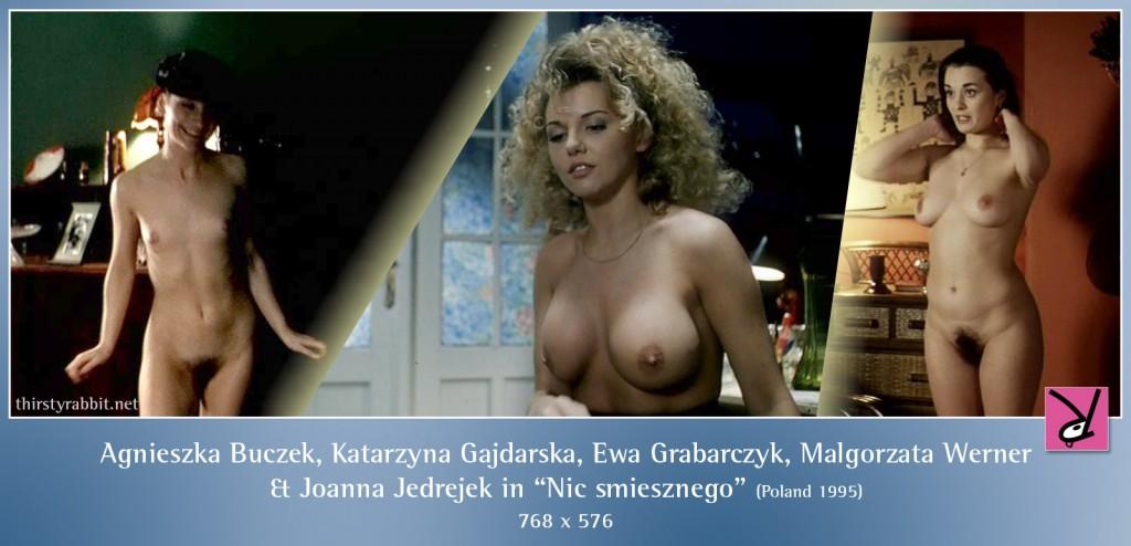 Agnieszka Buczek, Katarzyna Gajdarska, Ewa Grabarczyk, Malgorzata Werner, and Joanna Jedrejek nude in Nic smiesznego