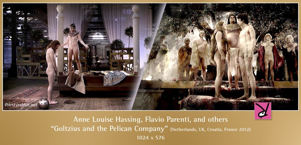 Anne Louise Hassing and Flavio Parenti nude in Goltzius and the Pelican Company