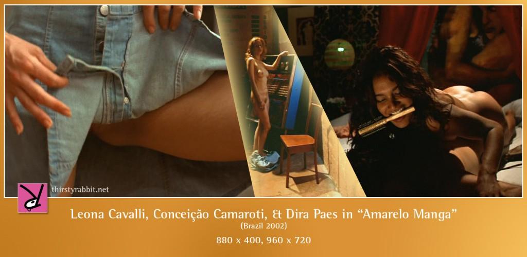 Leona Cavalli, Dira Paes, Conceição Camaroti, and Jonas Bloch nude in Amarelo Manga aka Mango Yellow