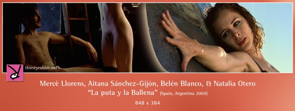 Mercè Llorens, Aitana Sánchez-Gijón, Belén Blanco, and Natalia Otero nude in La puta y la Ballena