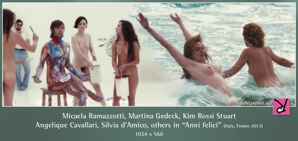 Micaela Ramazzotti, Martina Gedeck, Kim Rossi Stuart, Angelique Cavallari, Silvia d'Amico, and others nude in Anni felici aka Those Happy Years