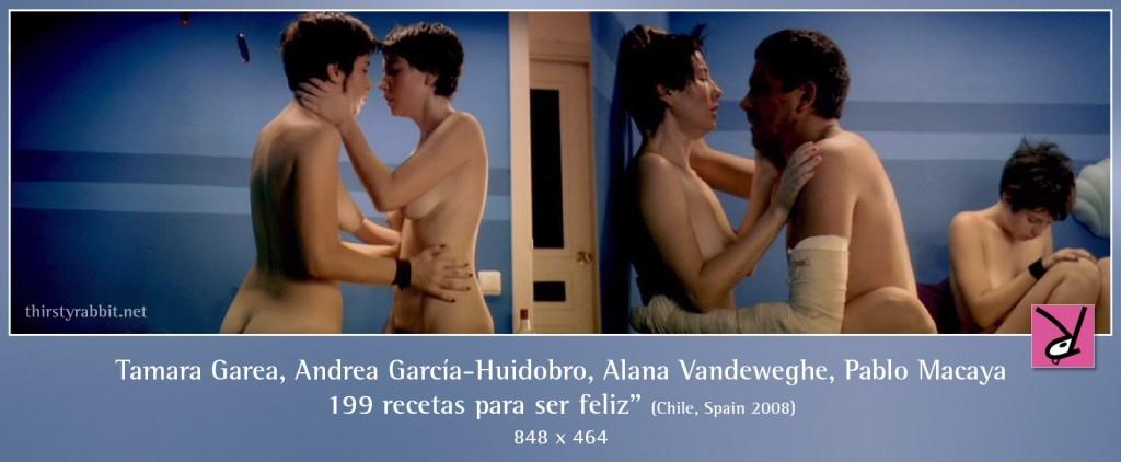 Tamara Garea, Andrea García-Huidobro, and Pablo Macaya nude in 199 recetas para ser feliz