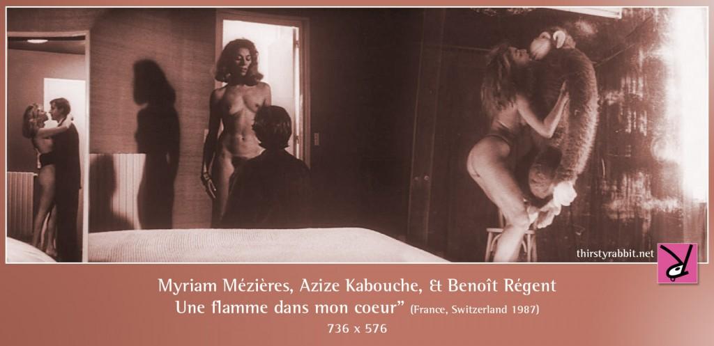 "Myriam Mézières, Azize Kabouche, and Benoît Régent in Alain Tanner's ""Une flamme dans mon coeur"" aka ""A Flame in My Heart""."