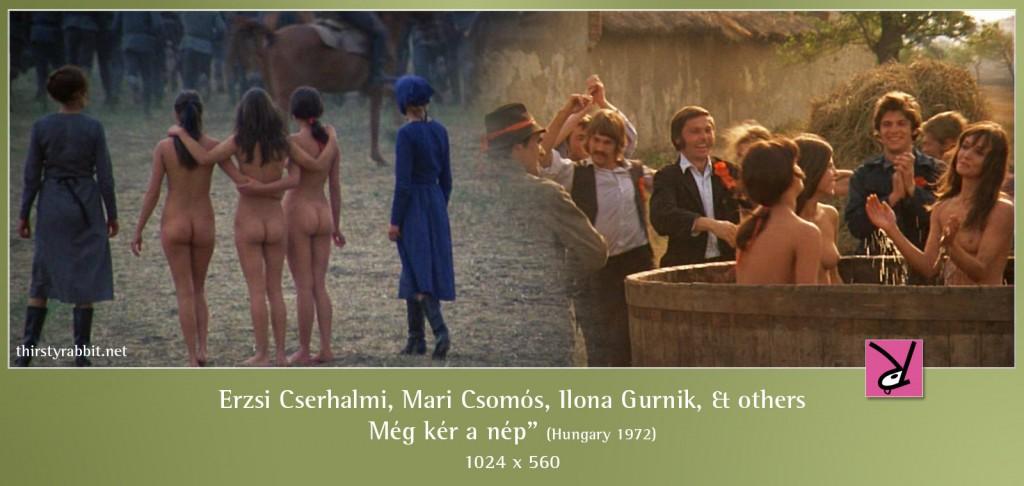 Ilona Gurnik, Erzsi Cserhalmi, Éva Spányik, and others in Miklós Jancsó's Red Psalm