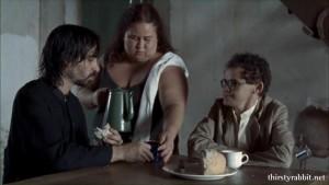Júlio Andrade, Marcia Martin, and  Gero Camilo in Hotel Atlântico