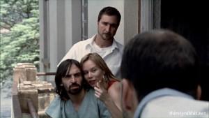 Júlio Andrade, Mariana Ximenes, and Joao Miguel in Hotel Atlântico