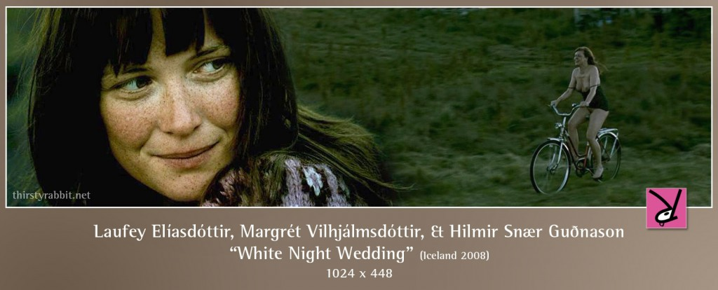Margrét Vilhjálmsdóttir, Laufey Elíasdóttir, and Hilmir Snær Guðnason nude in Baltasar Kormákur's White Night Wedding