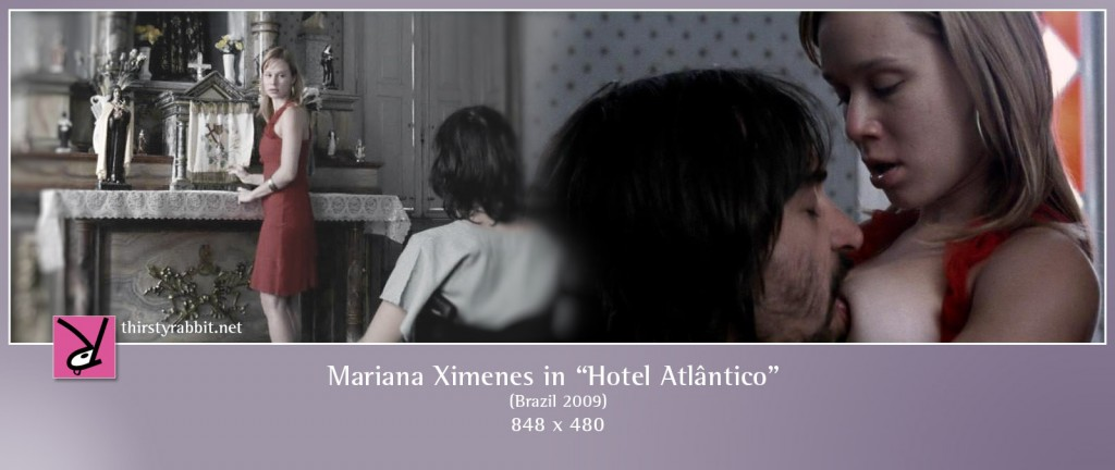 Mariana Ximenes nude in the film Hotel Atlântico