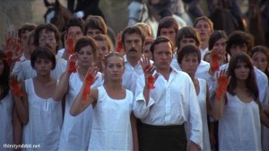 A scene from Red Psalm (1972)