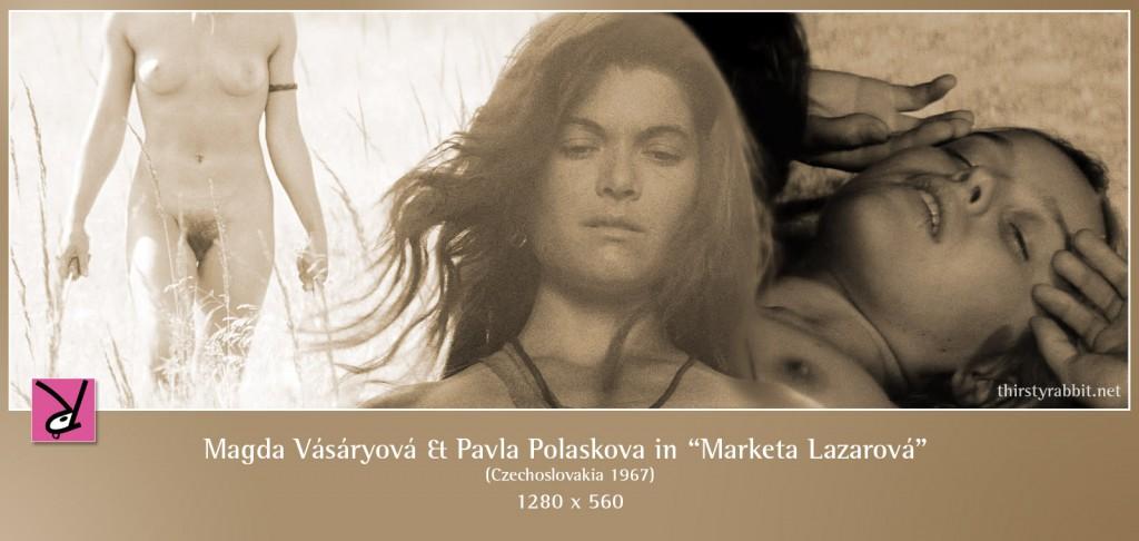 Magda Vásáryová and Pavla Polaskova nude in Frantisek Vlácil's Marketa Lazarová