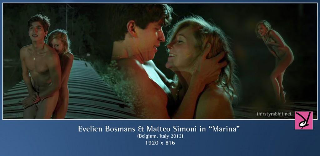 Evelien Bosmans and Matteo Simoni nude in Marina