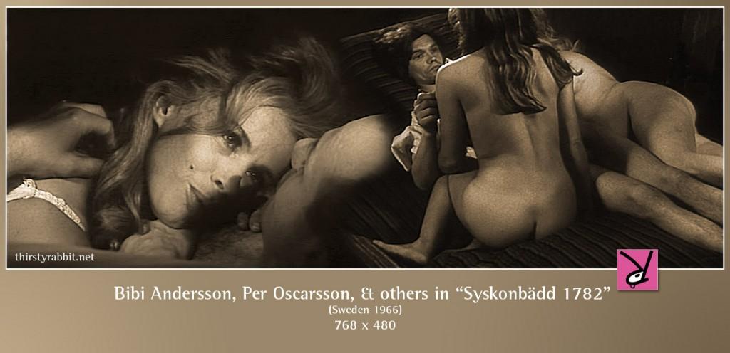 Bibi Andersson, Per Oscarsson, Ulla Lyttkens, and O. Paivonen nude in Syskonbädd 1782 aka My Sister My Love