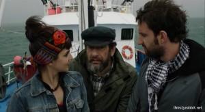 Clara Lago, Karra Elejalde, and Dani Rovira in Ocho apellidos vascos (2014, Spain)